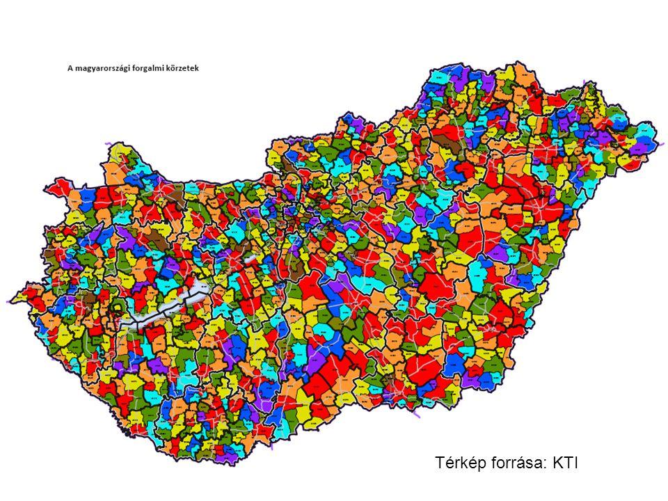 Térkép forrása: KTI
