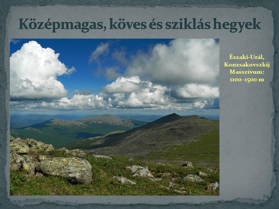 24 Északi-Urál, Konzsakovszkij Masszívum: 1100–1500 m