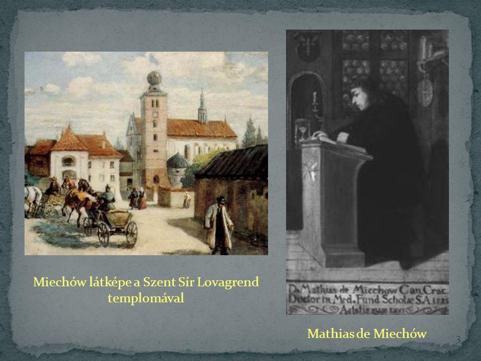 Miechów látképe a Szent Sír Lovagrend templomával Mathias de Miechów 3