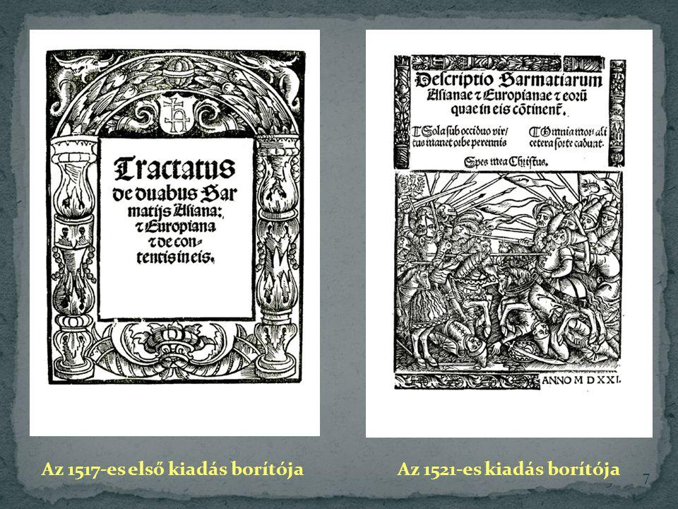 Az 1517-es első kiadás borítójaAz 1521-es kiadás borítója 7
