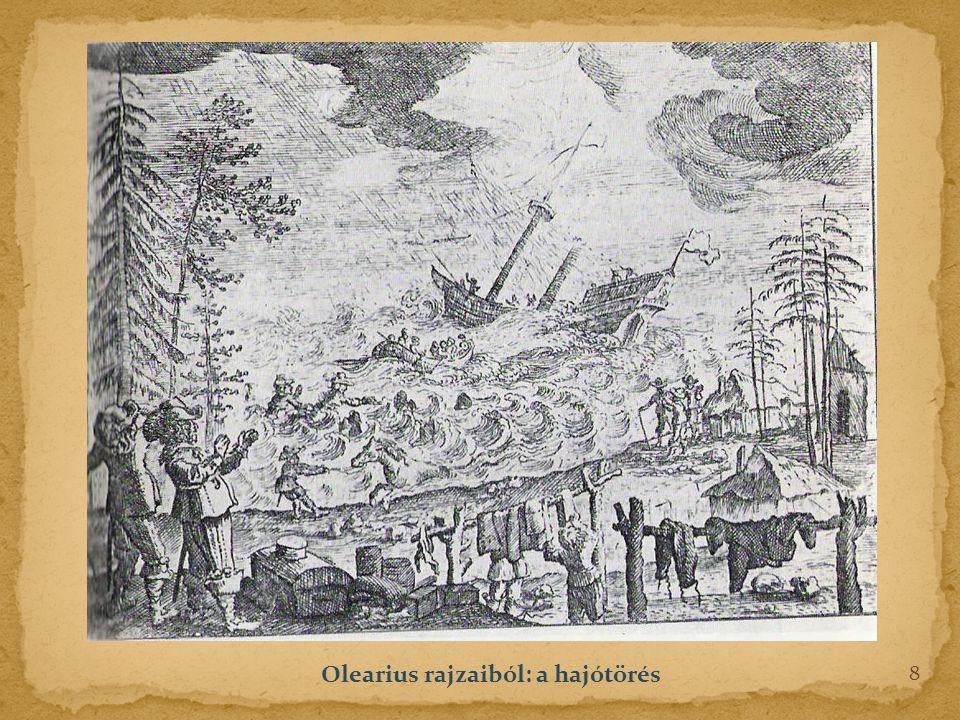 Olearius rajzaiból: a hajótörés 8