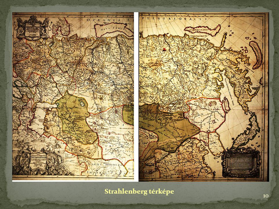 10 Strahlenberg térképe