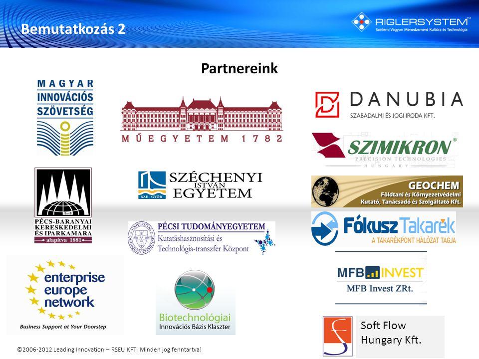 ©2006-2012 Leading Innovation – RSEU KFT. Minden jog fenntartva! Soft Flow Hungary Kft. Bemutatkozás 2 Partnereink