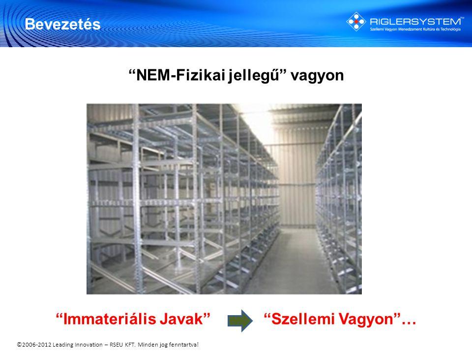 """©2006-2012 Leading Innovation – RSEU KFT. Minden jog fenntartva! """"NEM-Fizikai jellegű"""" vagyon """"Immateriális Javak"""" """"Szellemi Vagyon""""… Bevezetés"""