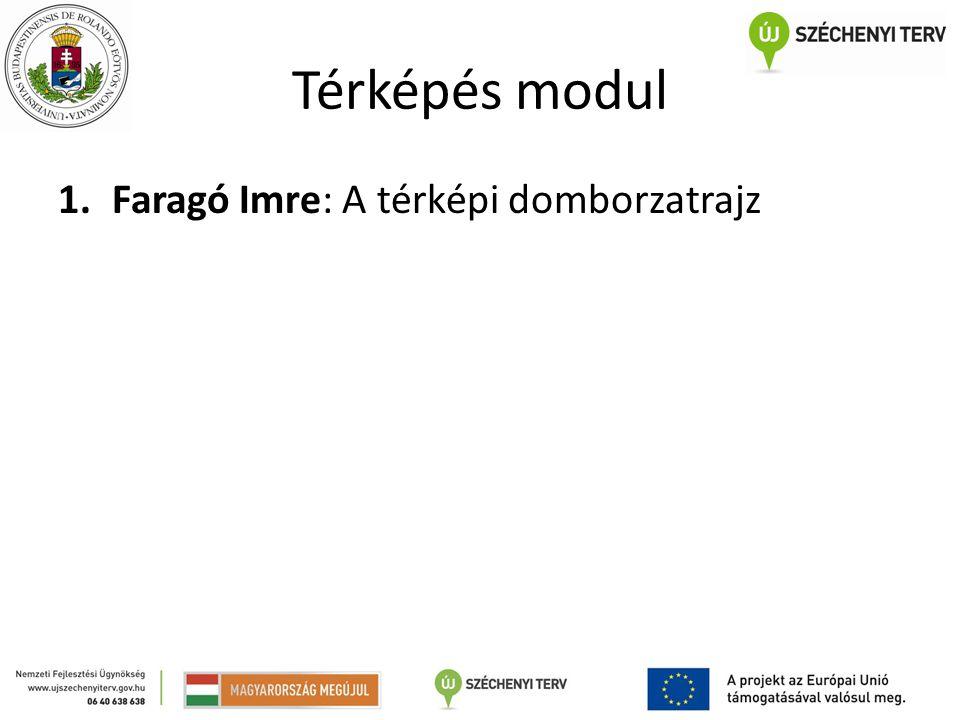 Térképés modul 1.Faragó Imre: A térképi domborzatrajz