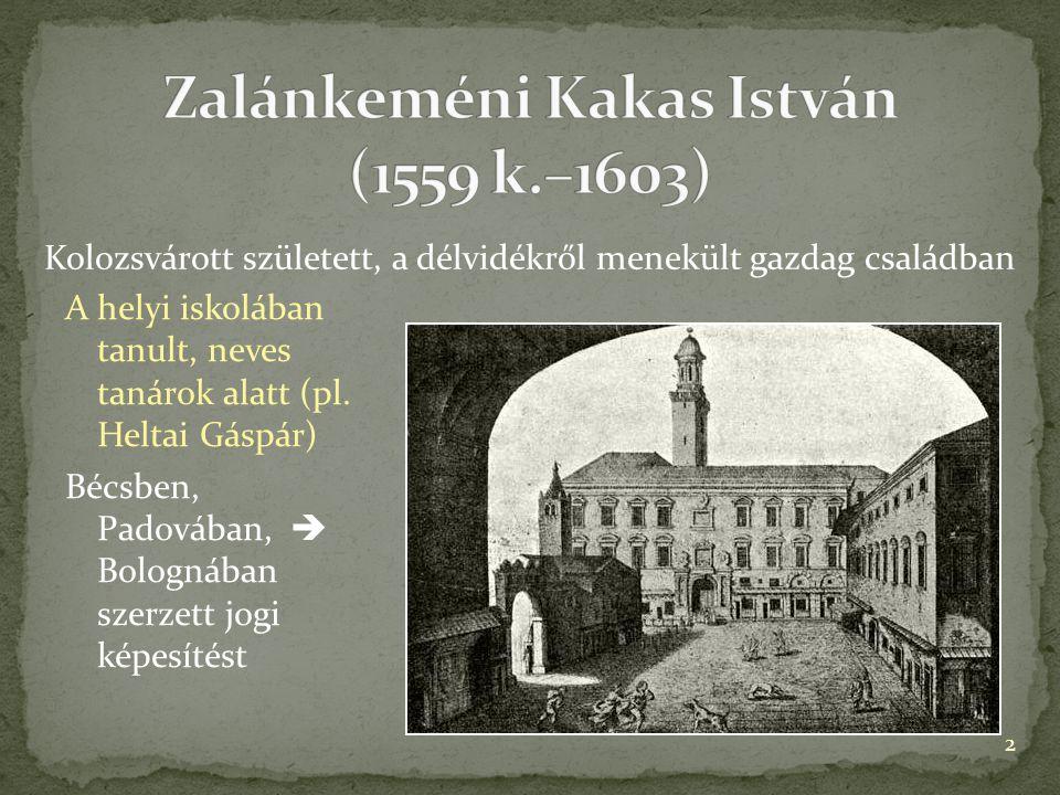 A helyi iskolában tanult, neves tanárok alatt (pl. Heltai Gáspár) Bécsben, Padovában,  Bolognában szerzett jogi képesítést Kolozsvárott született, a