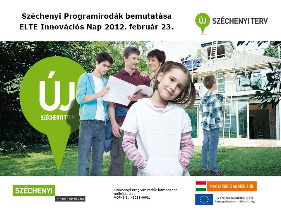 Széchenyi Programirodák Jogszabályi háttér: - Széchenyi Programirodákról szóló 68/2011.