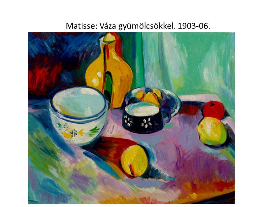 Matisse: Váza gyümölcsökkel. 1903-06.