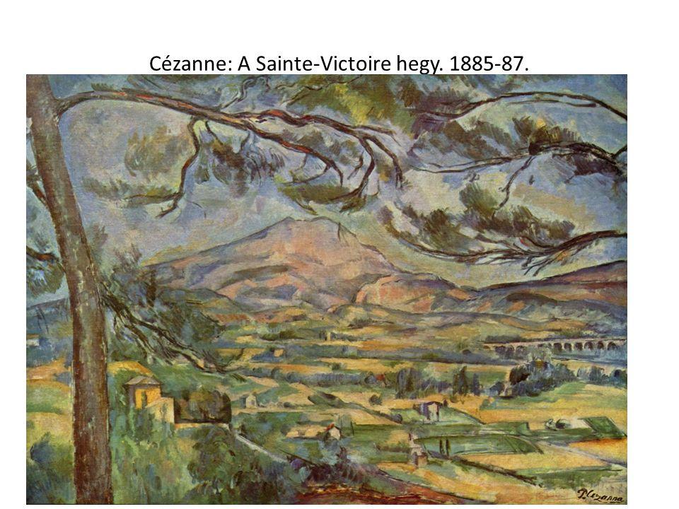 Cézanne: A Sainte-Victoire hegy. 1885-87.