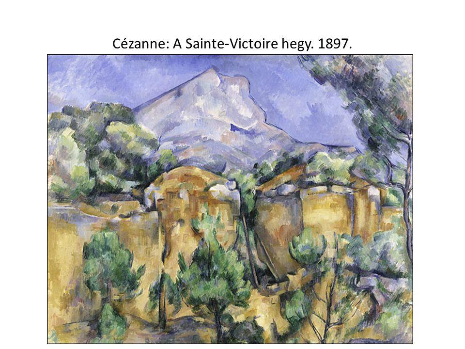 Cézanne: A Sainte-Victoire hegy. 1897.