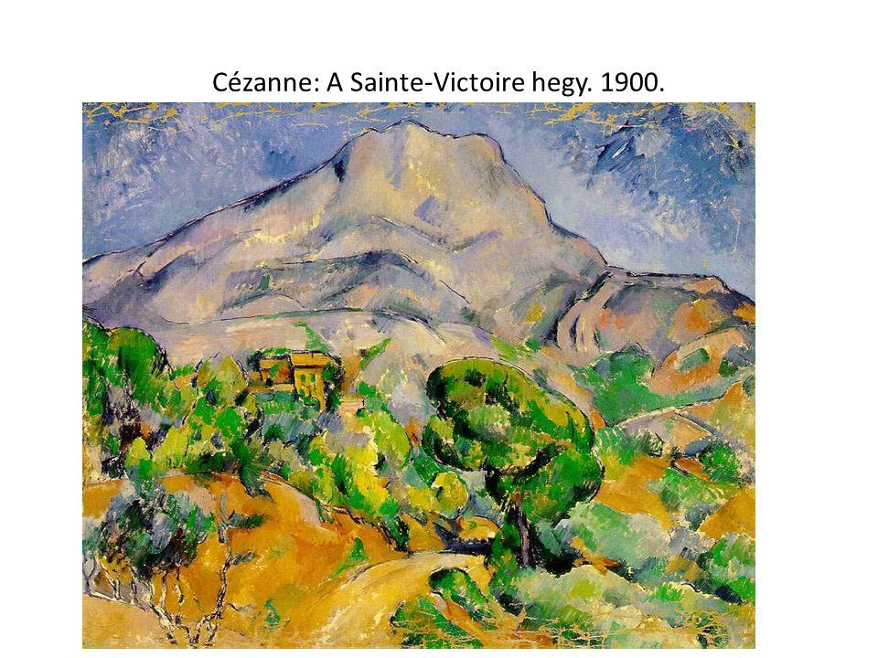 Cézanne: A Sainte-Victoire hegy. 1900.