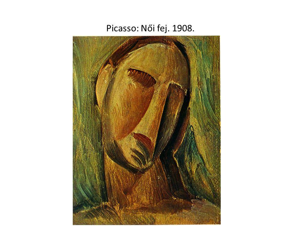 Picasso: Női fej. 1908.