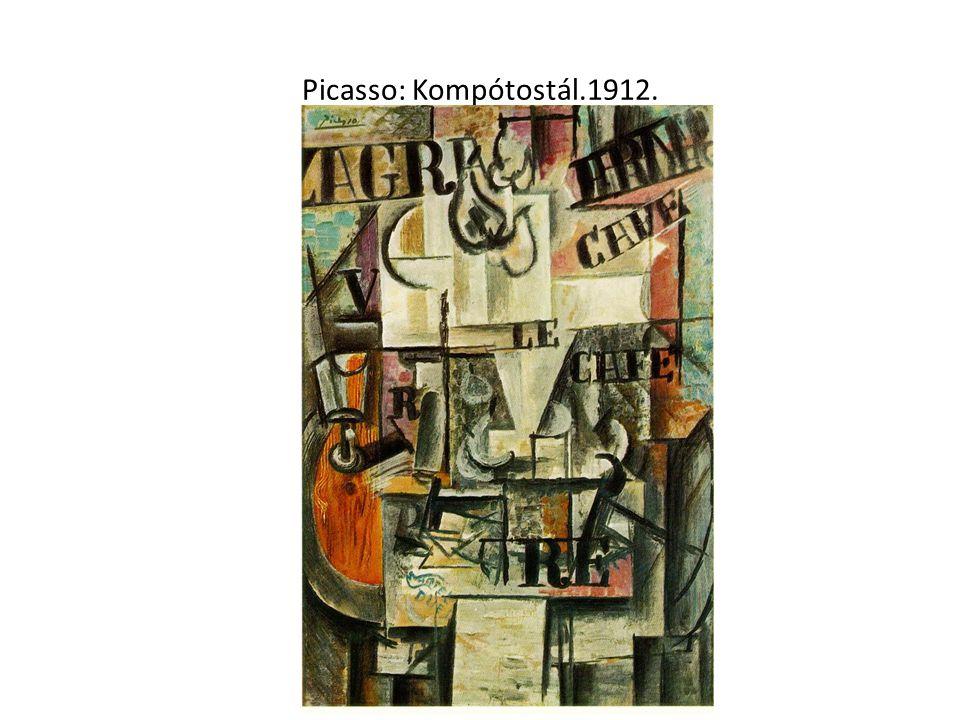 Picasso: Kompótostál.1912.