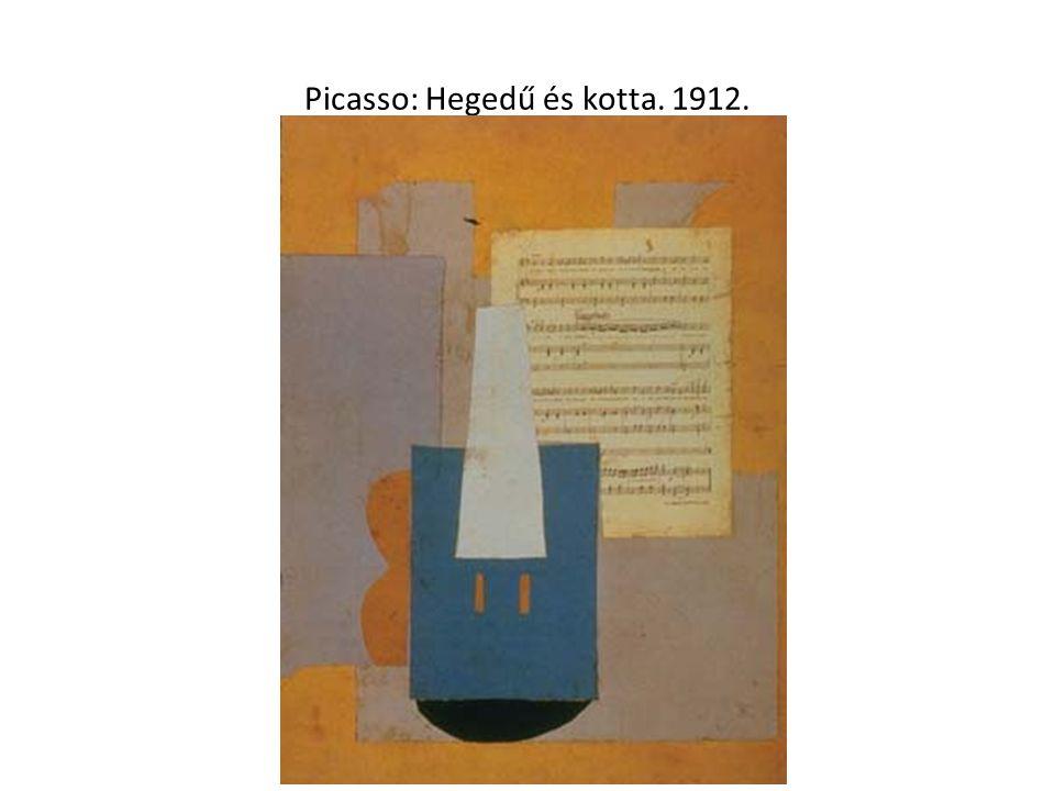 Picasso: Hegedű és kotta. 1912.