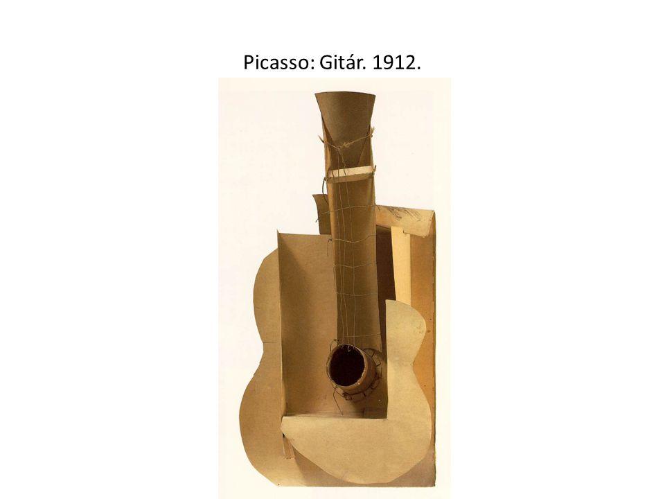 Picasso: Gitár. 1912.