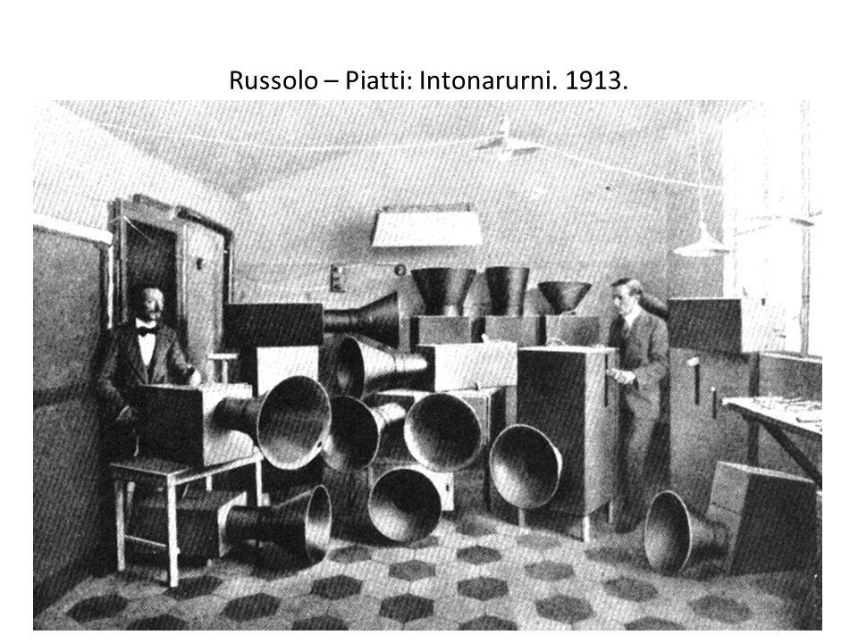 Russolo – Piatti: Intonarurni. 1913.