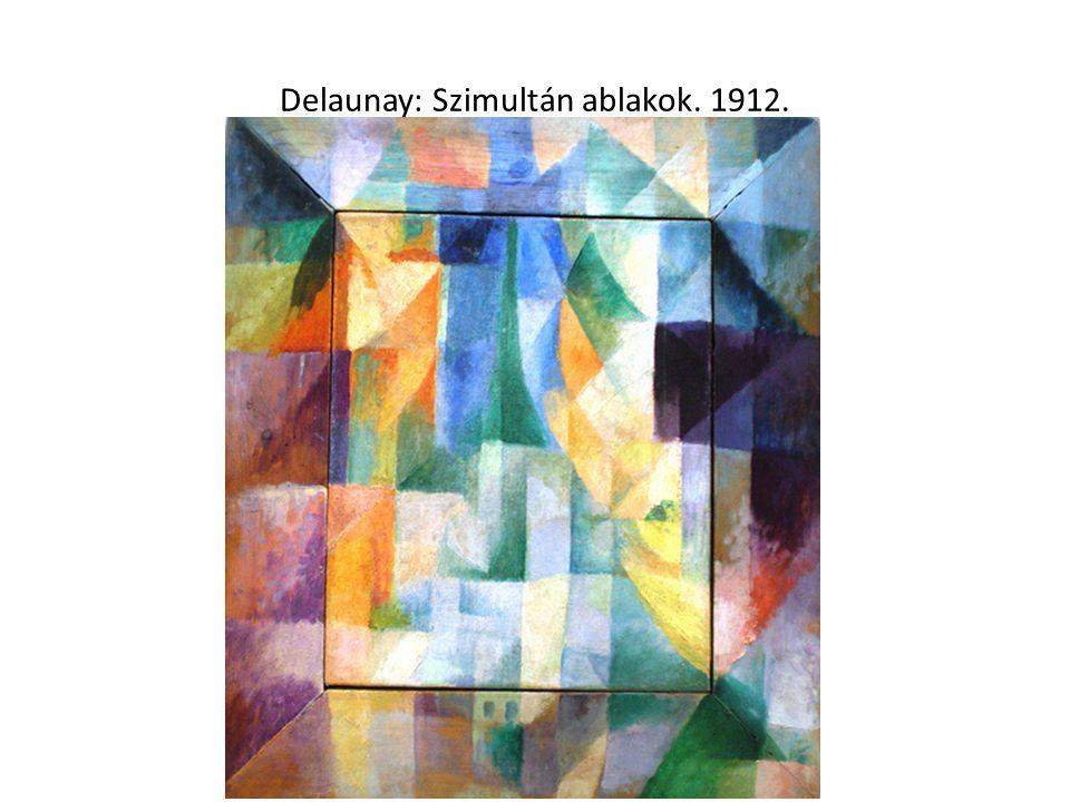 Delaunay: Szimultán ablakok. 1912.