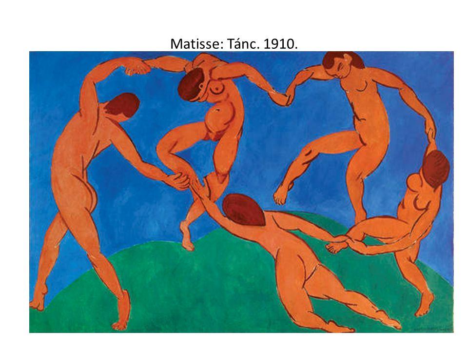 Matisse: Vörös műterem. 1911.