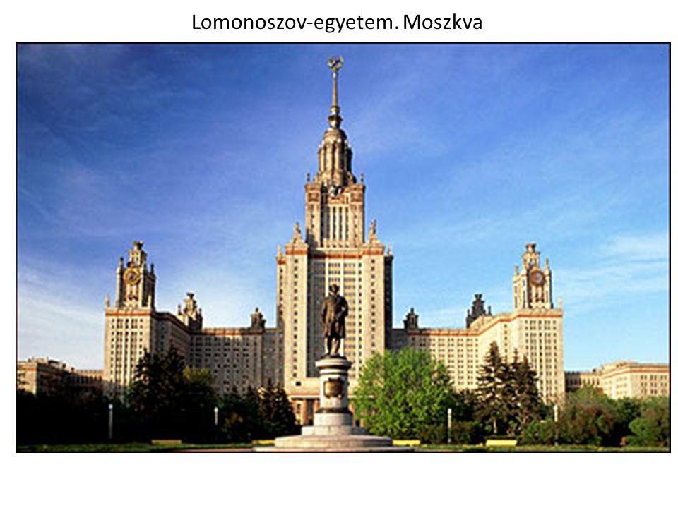 Lomonoszov-egyetem. Moszkva