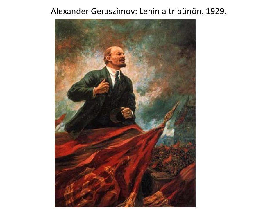 Alexander Geraszimov: Lenin a tribünön. 1929.