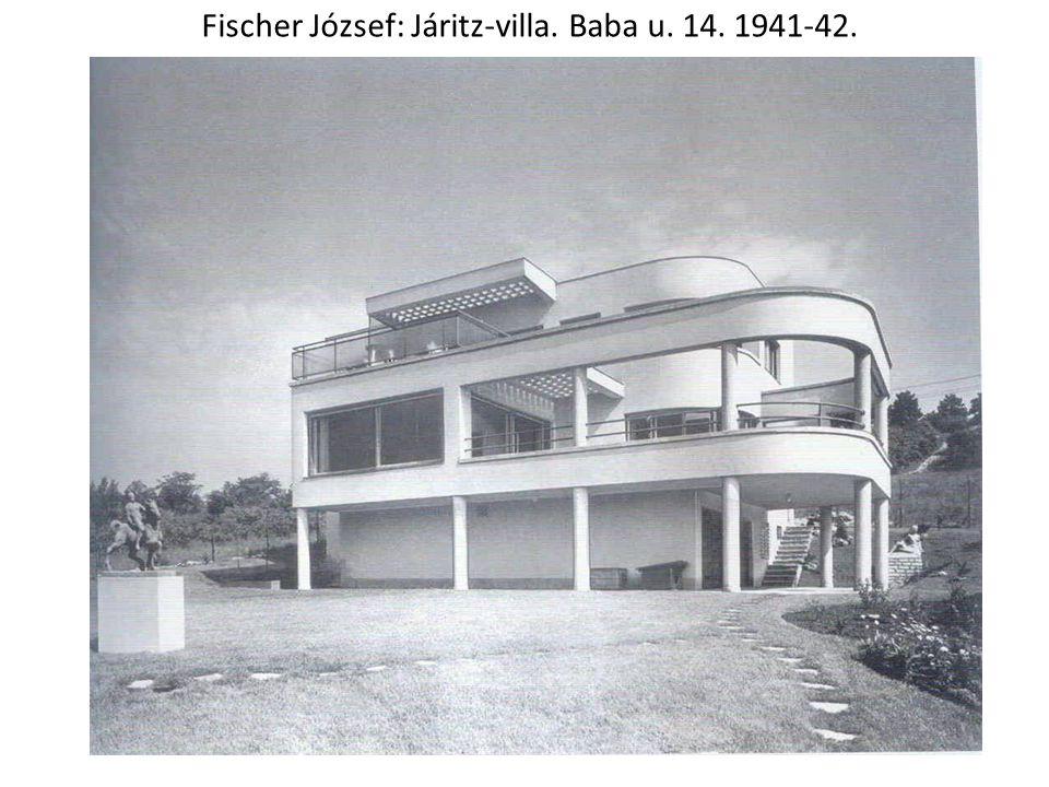 Fischer József: Járitz-villa. Baba u. 14. 1941-42.