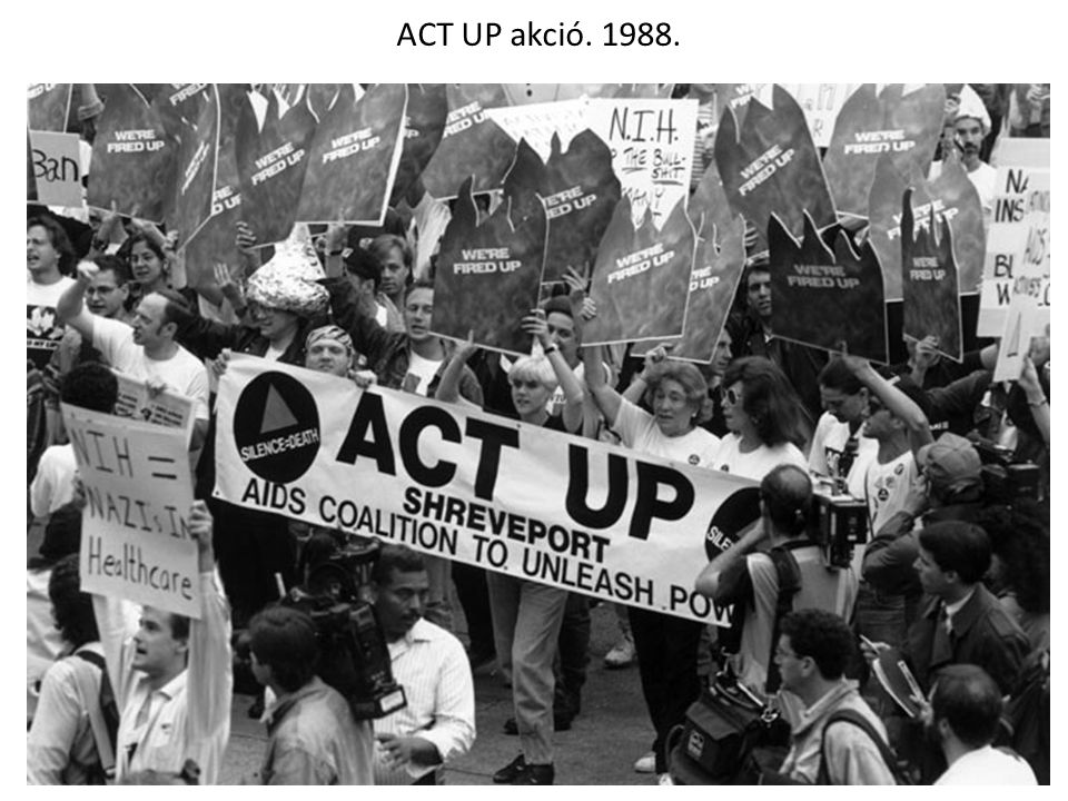 ACT UP akció. 1988.