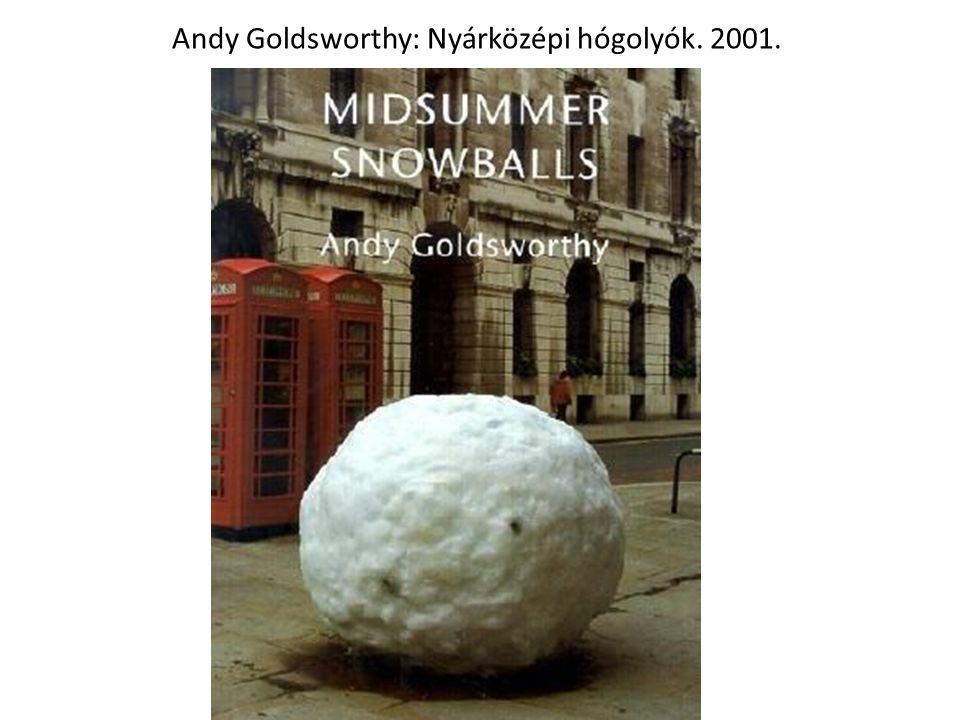 Andy Goldsworthy: Nyárközépi hógolyók. 2001.