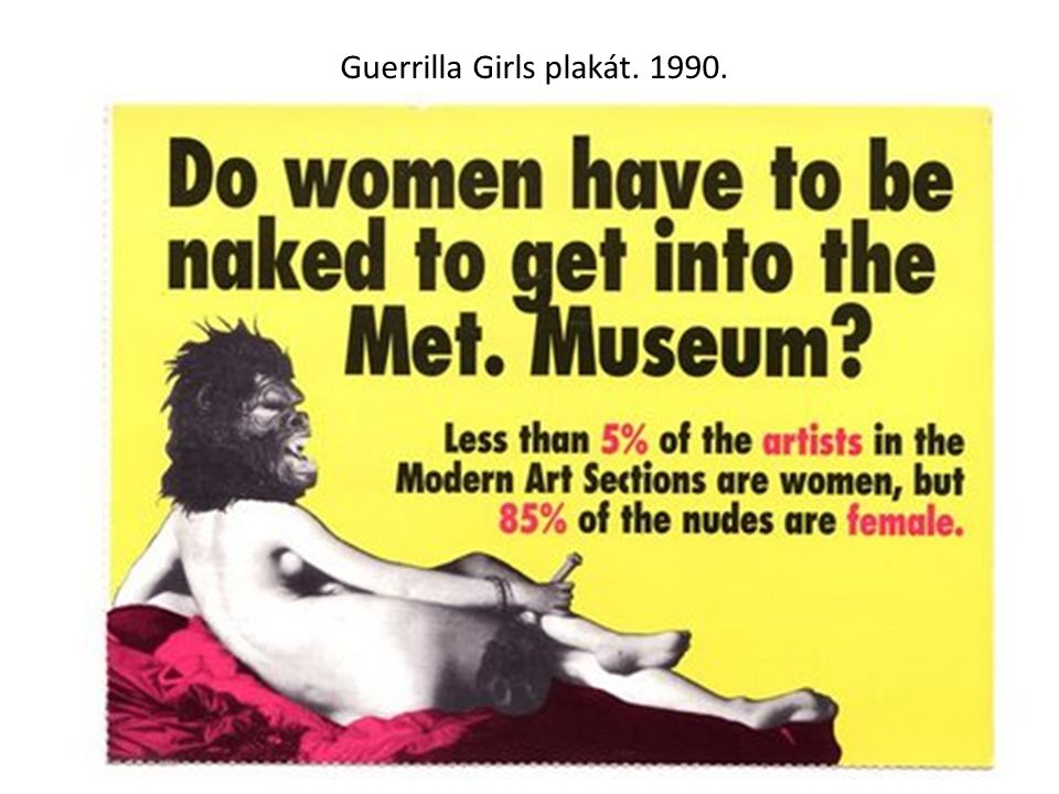 Guerrilla Girls plakát