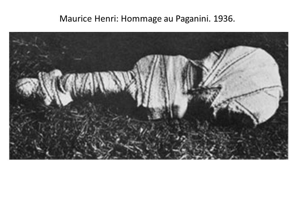 Maurice Henri: Hommage au Paganini. 1936.