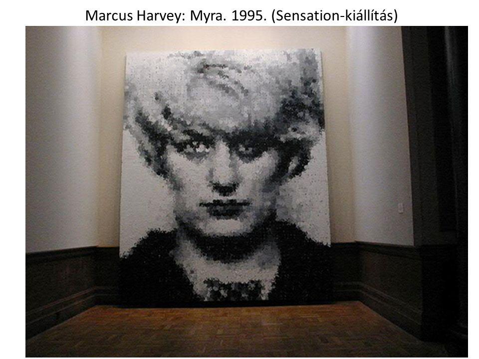 Marcus Harvey: Myra. 1995. (Sensation-kiállítás)