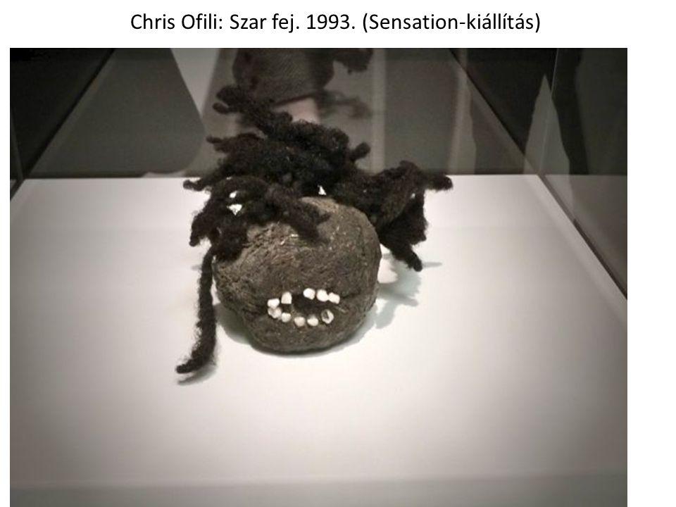 Chris Ofili: Szar fej. 1993. (Sensation-kiállítás)
