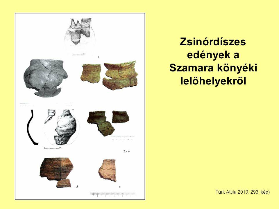 Zsinórdíszes edények a Szamara könyéki lelőhelyekről Türk Attila 2010: 293. kép)