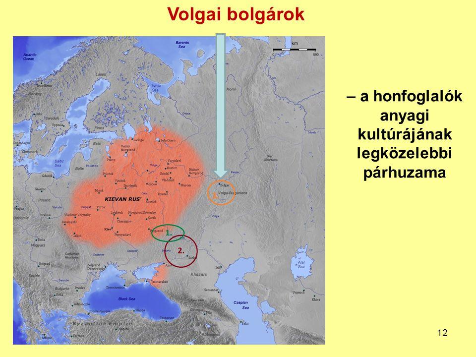 – a honfoglalók anyagi kultúrájának legközelebbi párhuzama Volgai bolgárok 12