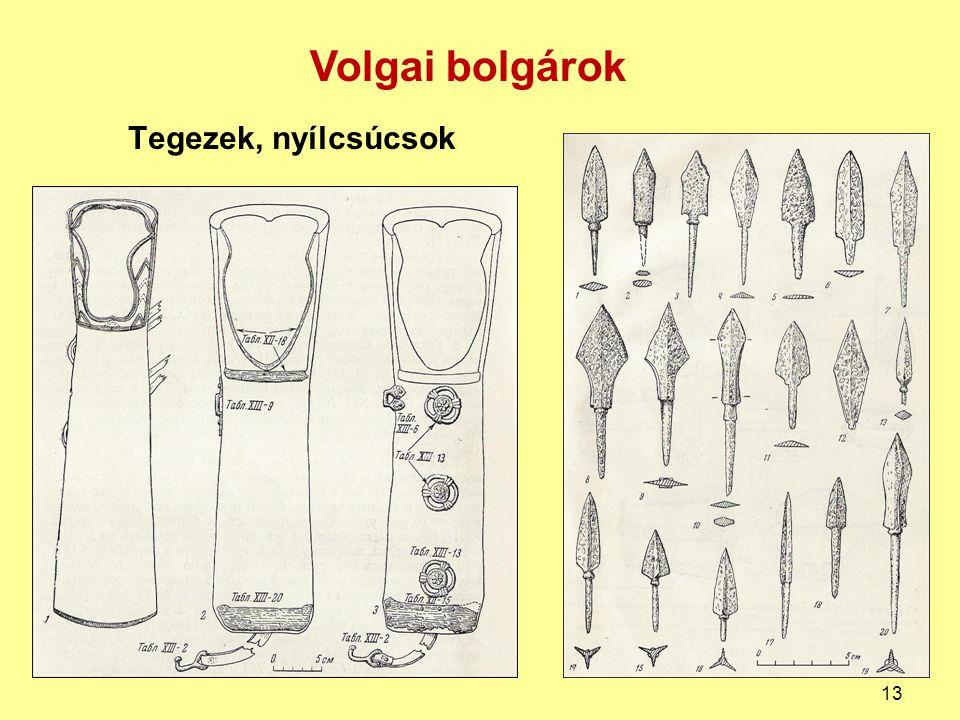 Tegezek, nyílcsúcsok Volgai bolgárok 13