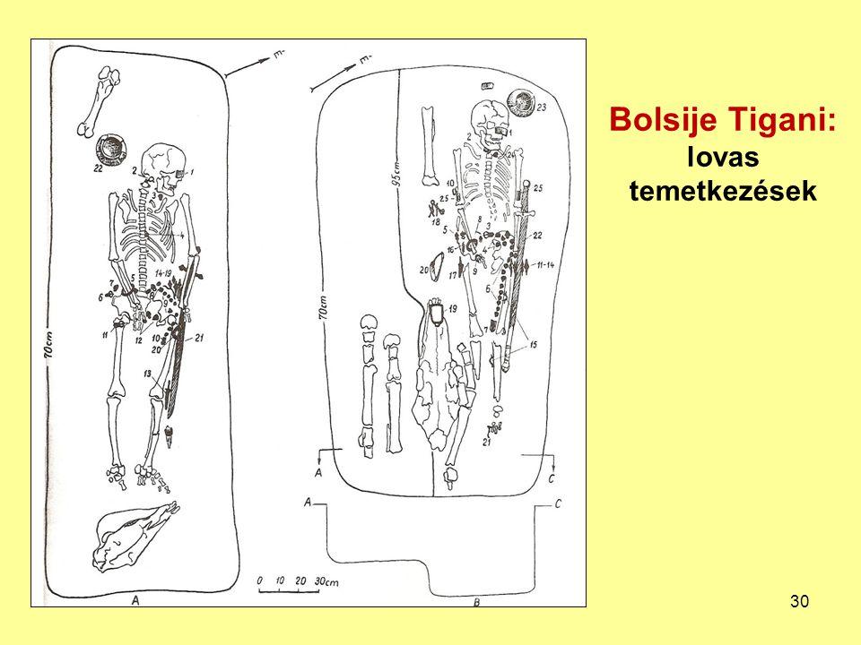 Bolsije Tigani: lovas temetkezések 30