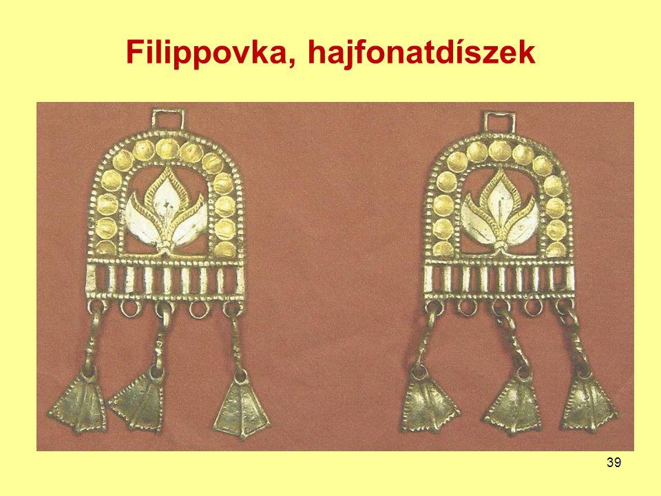 Filippovka, hajfonatdíszek 39