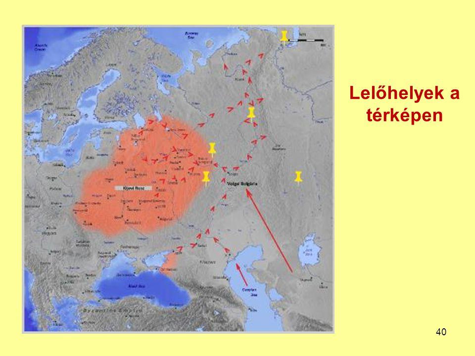 Lelőhelyek a térképen 40