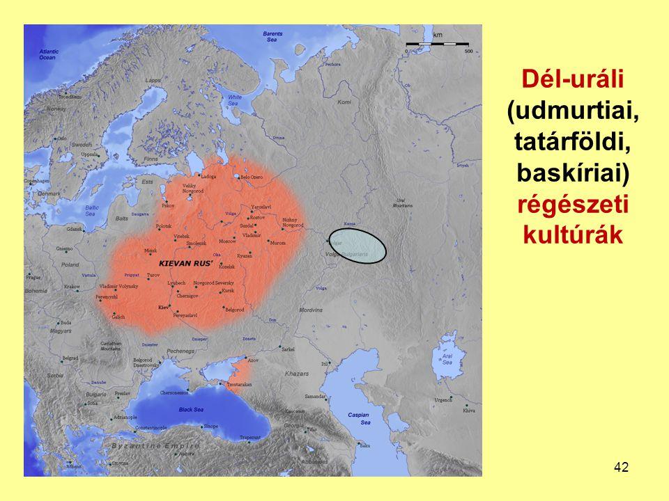 Dél-uráli (udmurtiai, tatárföldi, baskíriai) régészeti kultúrák 42