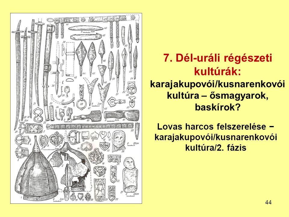 Lovas harcos felszerelése − karajakupovói/kusnarenkovói kultúra/2. fázis 7. Dél-uráli régészeti kultúrák: karajakupovói/kusnarenkovói kultúra – ősmagy