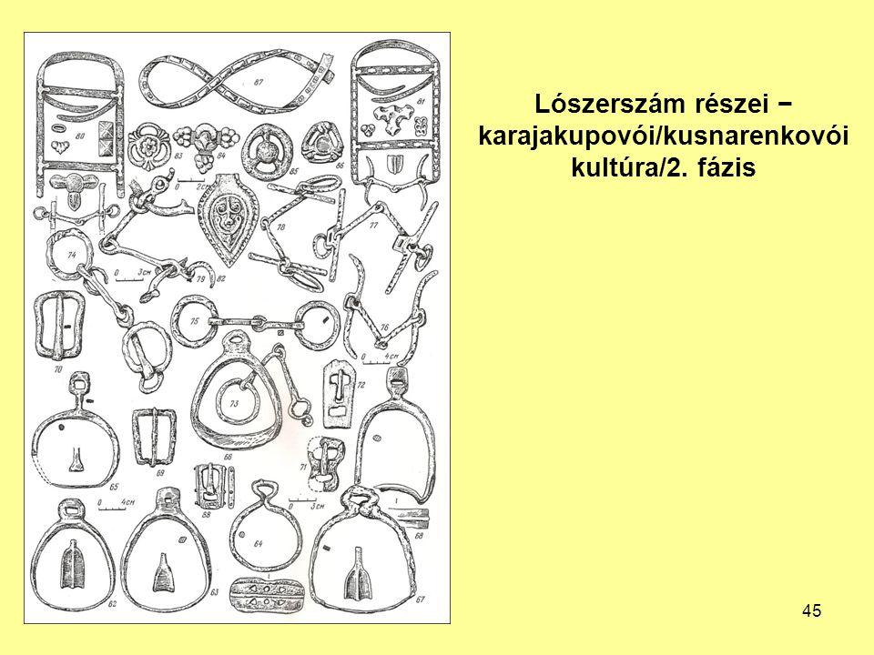 Lószerszám részei − karajakupovói/kusnarenkovói kultúra/2. fázis 45