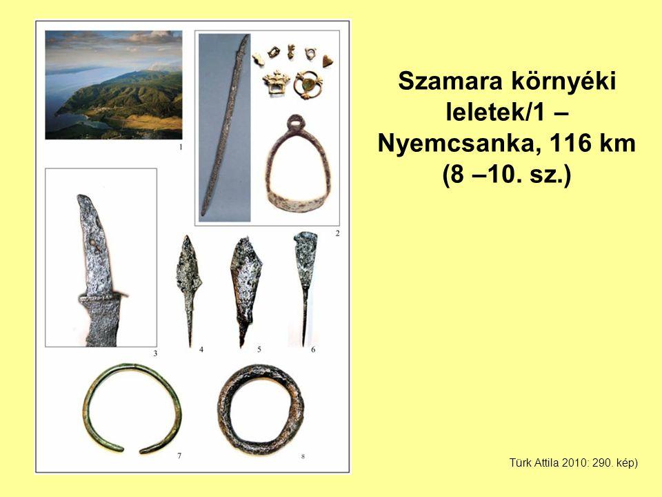 Szamara környéki leletek/1 – Nyemcsanka, 116 km (8 –10. sz.) Türk Attila 2010: 290. kép)