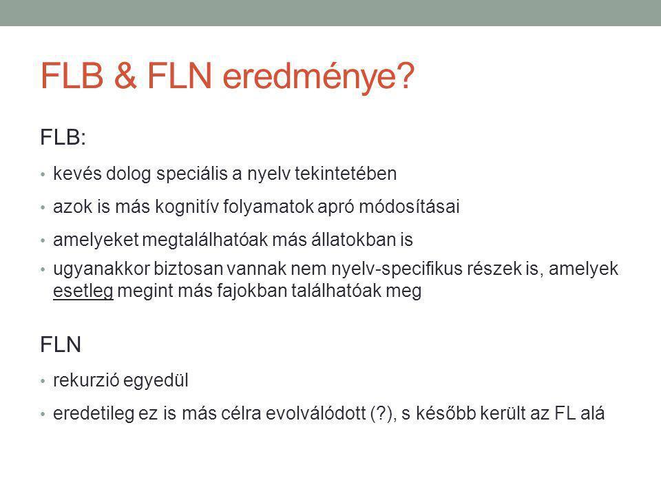 FLB & FLN eredménye.