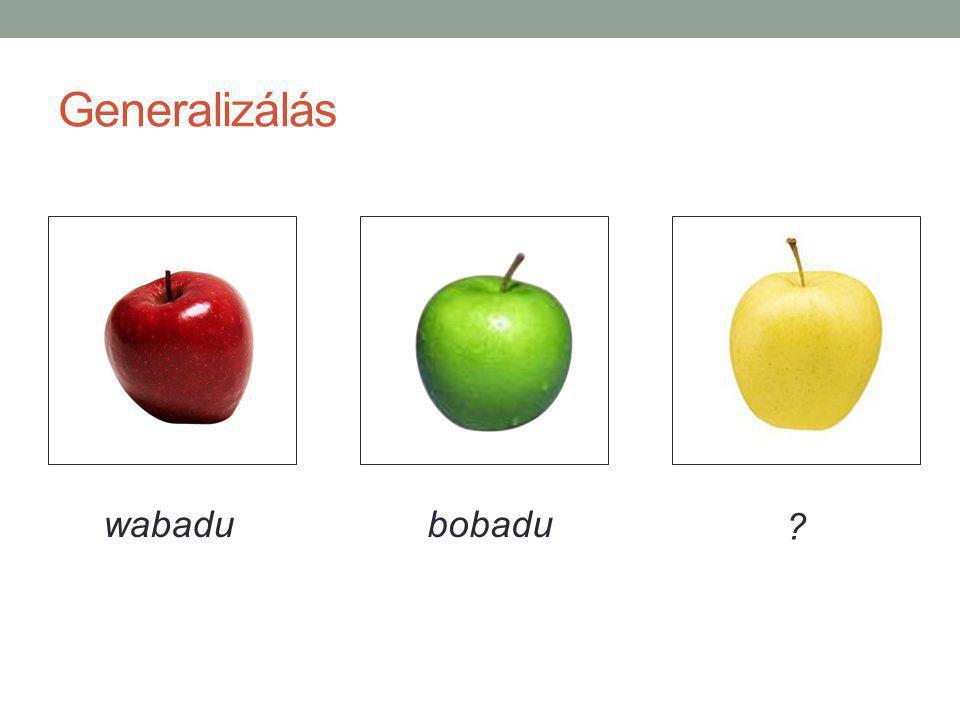 Generalizálás wabadubobadu
