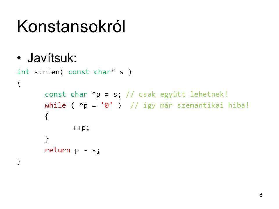 Kódelemzés Megoldás: #include int main() { int ls = 0; char c; while ( std::cin >> std::noskipws >> c) { if (c == '\n') { ls += 1; } } std::cout << ls << std::endl; return 0; }