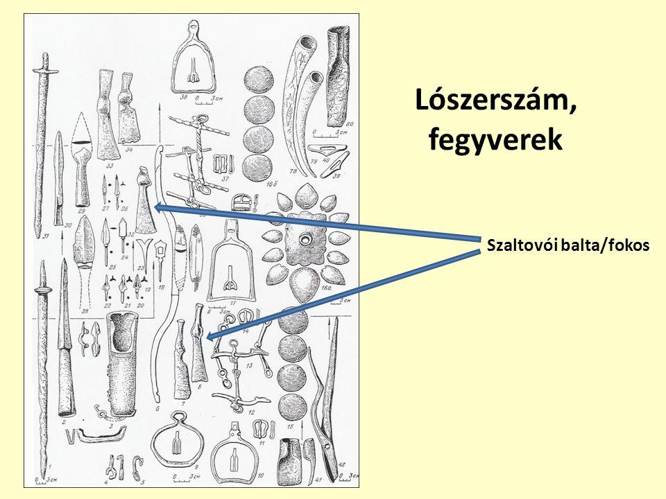 Lószerszám, fegyverek Szaltovói balta/fokos
