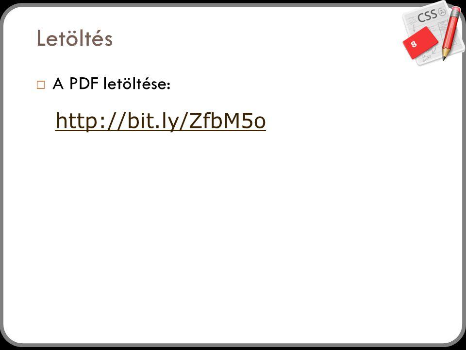 8 Letöltés  A PDF letöltése: http://bit.ly/ZfbM5o