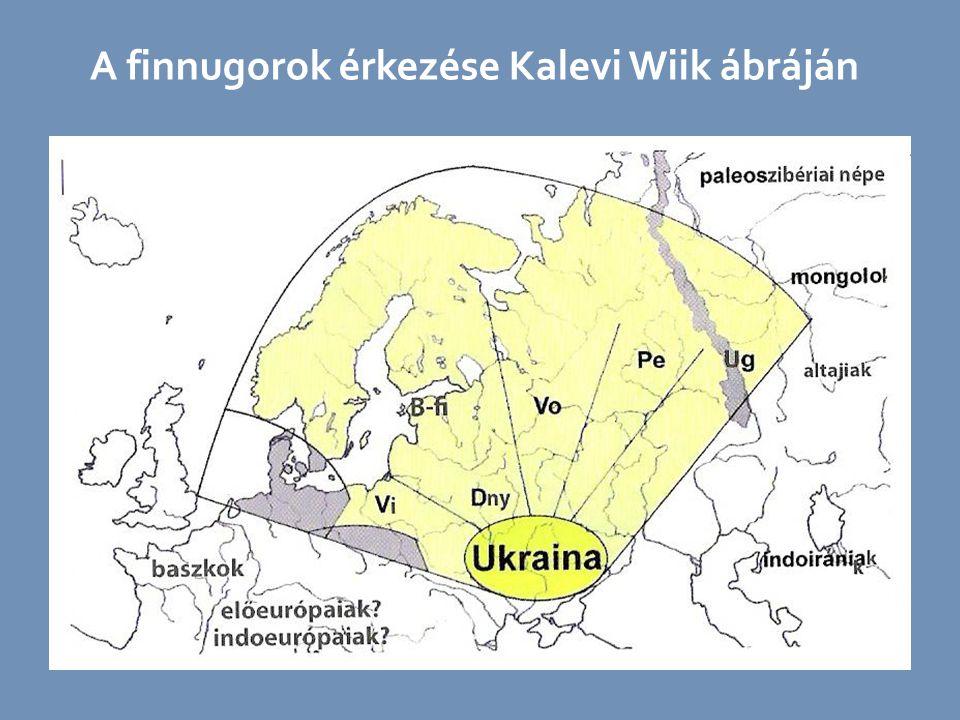 A finnugorok érkezése Kalevi Wiik ábráján