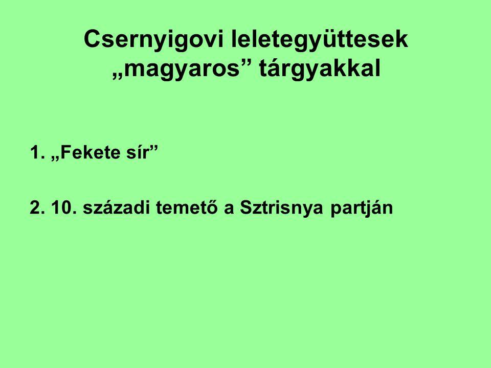 """Csernyigovi leletegyüttesek """"magyaros tárgyakkal 1."""