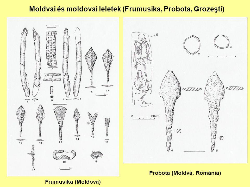 Moldvai és moldovai leletek (Frumusika, Probota, Grozeşti) Frumusika (Moldova) Probota (Moldva, Románia)
