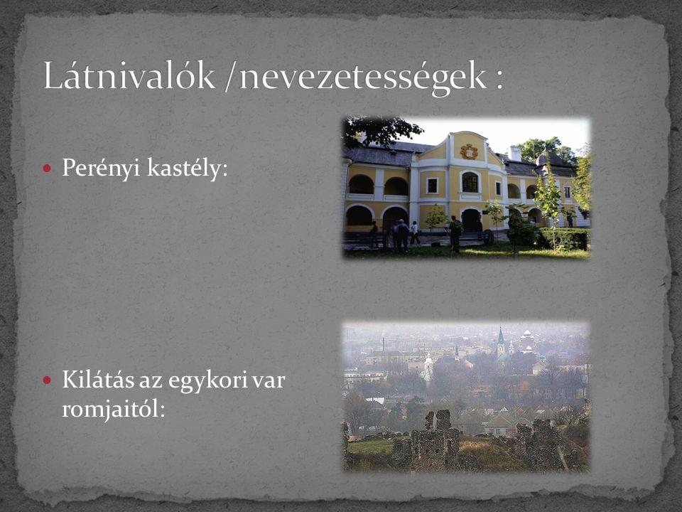 Perényi kastély: Kilátás az egykori var romjaitól: